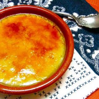 Lemon Scented Almond Milk Custard – Crema Catalana.