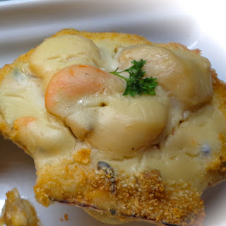 Coquille of Shrimp and Scallops