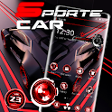 Red and Black Sports Speed Car Theme 🚗 icon