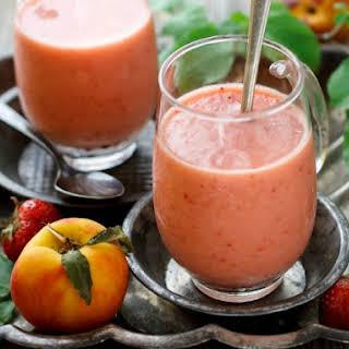 Super Simple Strawberry Peach Smoothie.