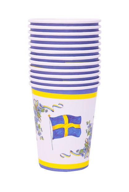 Muggar, svenska flaggan med krans