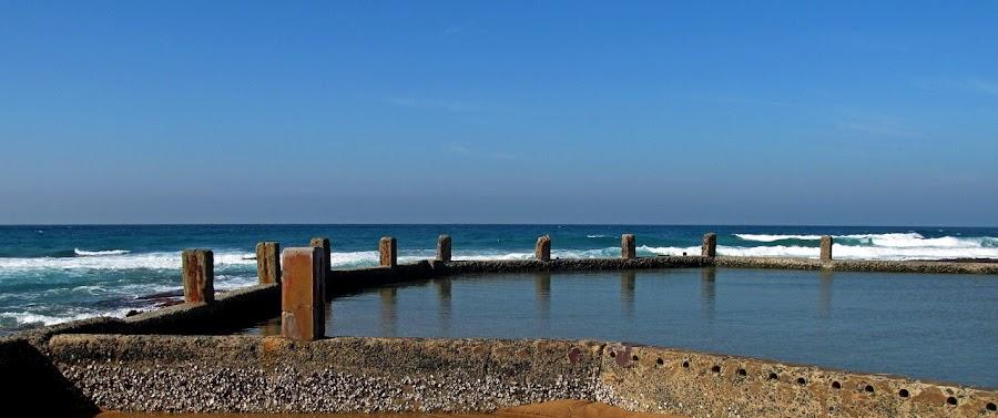 Tide Pool by Nico Ebersohn - Buildings & Architecture Bridges & Suspended Structures ( waves, pool, water, tidepool, sea )