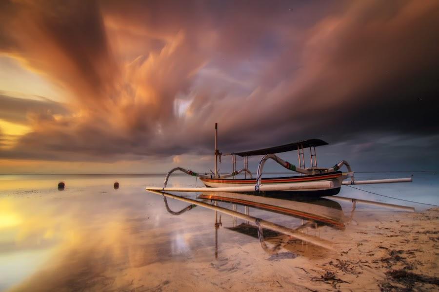 rising up by I Made  Sukarnawan - Landscapes Beaches ( sunset, beach, sunrise, boat, landscape )