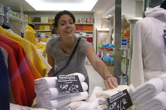 "Photo: Teresa touching something in a ""no touching allowed"" store in Venice, Italy"