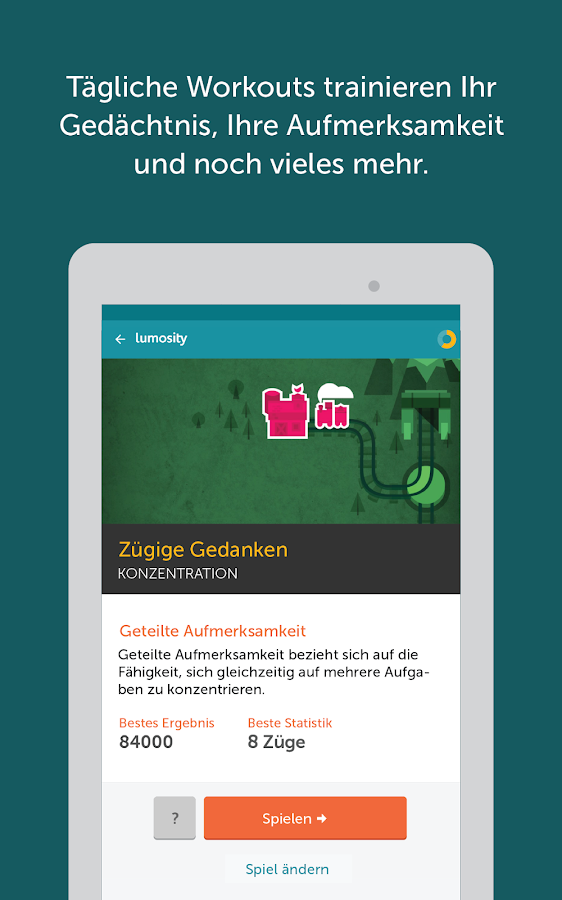 Lumosity - Gehirntraining – Screenshot