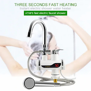 Robinet electric instant apa calda cu display si furtun pentru dus