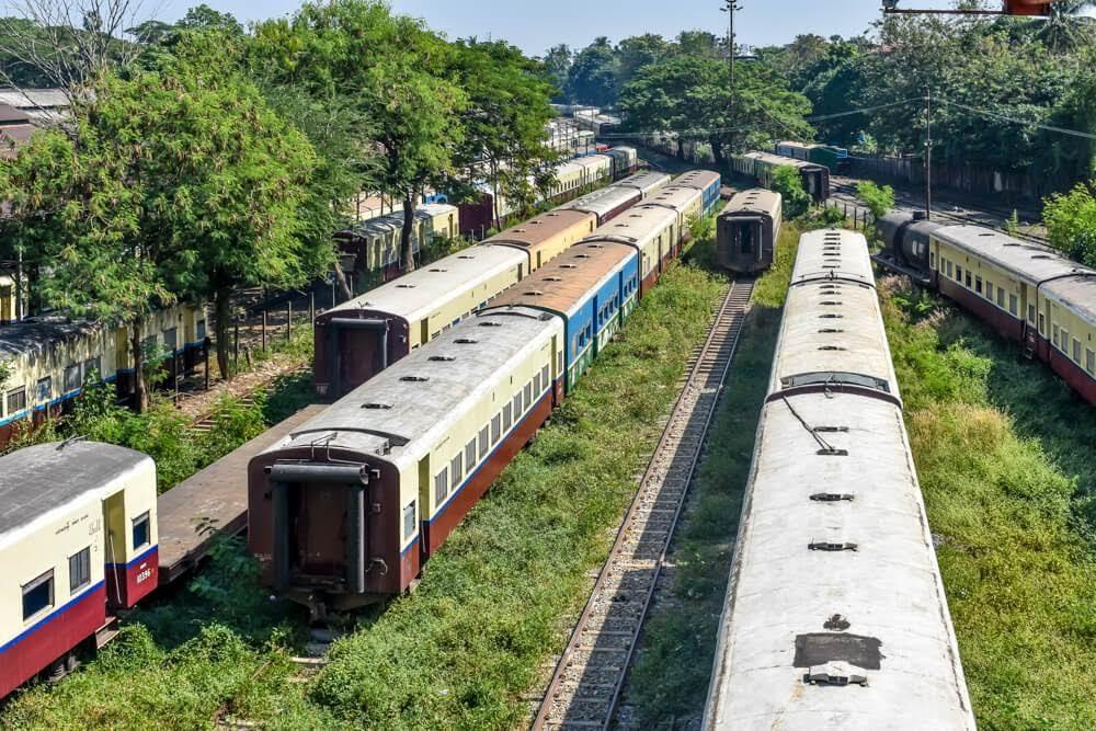 yangon circular train myanmar+burma