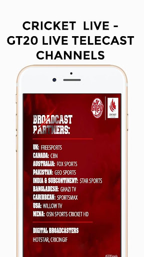 Live Cricket TV HD -  Global T20 Cricket live screenshots 2