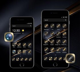 Download Golden Black Theme for P10 for android | Seedroid