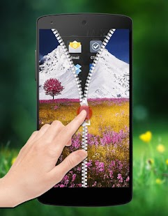 Nature Zipper Lock screenshot