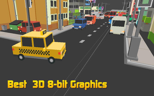 Blocky Traffic Taxi Dash