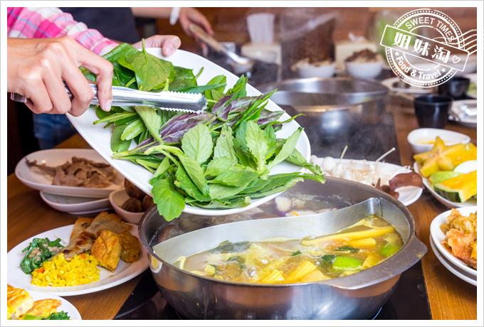 上竹林食草館養生汆燙鍋-野菜9