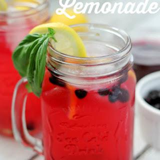 Fresh Basil Blueberry Lemonade.