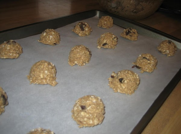 Form into balls on a lightly greased cookie sheet (I just lined mine with...
