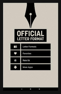 Official Letter Format – Apps bei Google Play