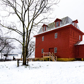 Last Snowfall for Big Otter River Mill by Norma Brandsberg - Buildings & Architecture Public & Historical ( old, mountain, photograph, bedford, visit, restaurant, roanoke, landscape, hiking, historic, photography, close, liberty, mill, camp, camping, flake, snow, peaks of otter, photographer, big otter river, virginia, va, place, top, blue ridge parkway, snowy, lake, suggest, photo, gristmill, rural, country, history, appalachian trail, opportunity, vacation, award winning, vista, grain, lumber, view, day, lodge, lodging, hike,  )