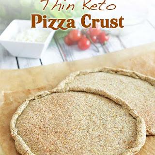 Thin Keto Pizza Crust.