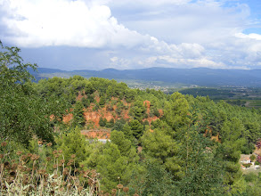 Photo: With this panoramic view as we munch on Provençal cuisine.