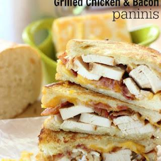 Garlic Cream Grilled Chicken & Bacon Paninis.
