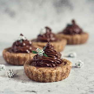 Chocolate And Acai Berry Tarts.