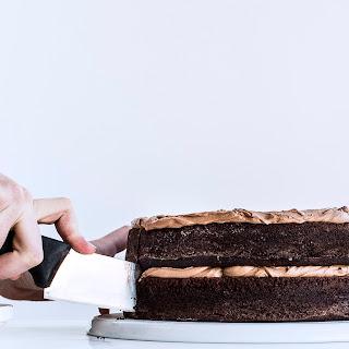 Simple Two-Layer Chocolate Birthday Cake with Milk Chocolate Ganache