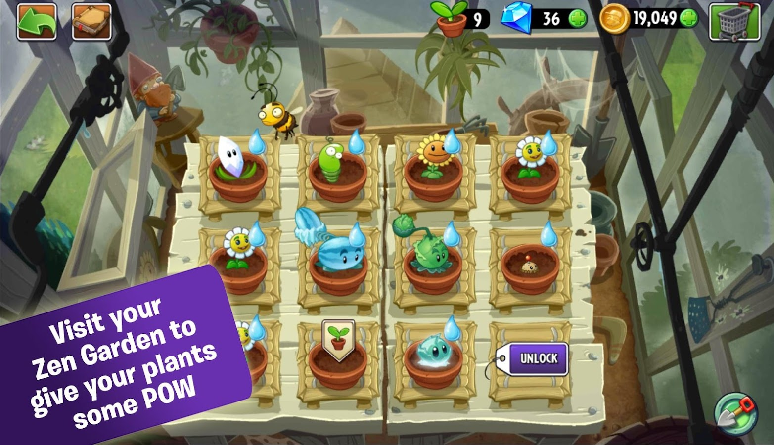 Screenshots of Plants vs. Zombies™ 2 for iPhone
