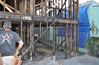Photo: More unconstructable shear wall framing that needs to be replaced.