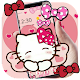 Pink Pretty Kitty Bowknot Theme Download on Windows