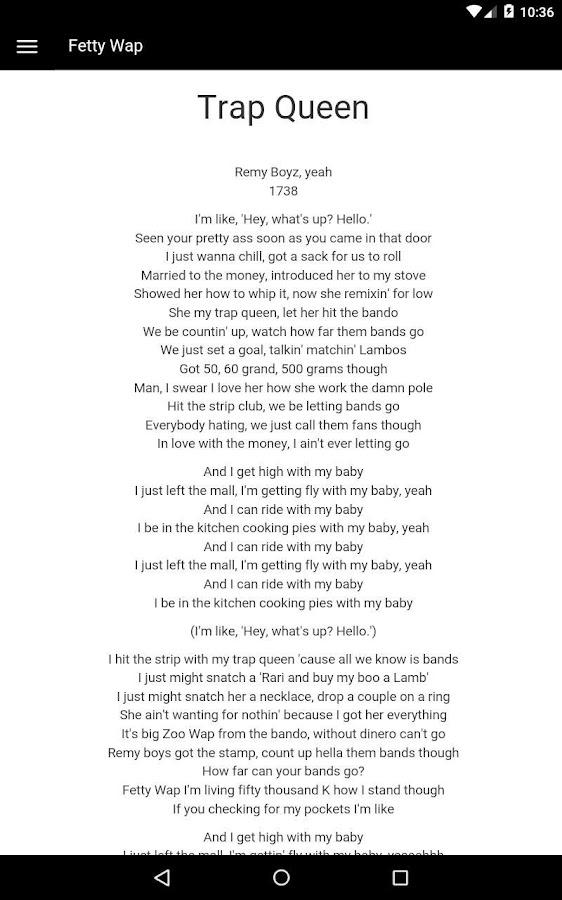 Lyric queen songs lyrics : Fetty Wap Lyrics - Android Apps on Google Play
