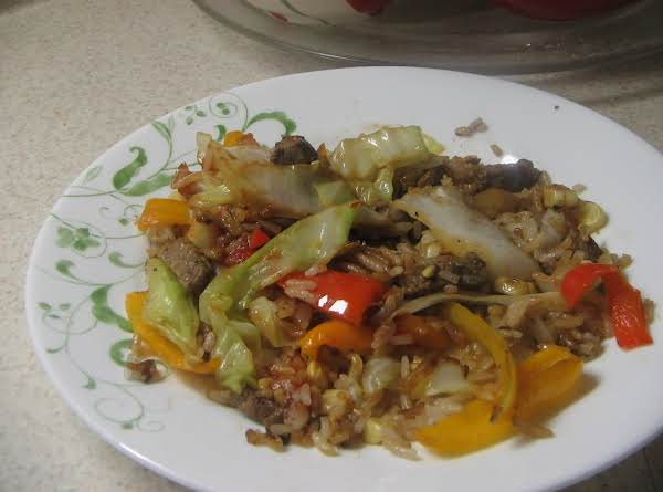 Beef / Vegetables And Rice Recipe