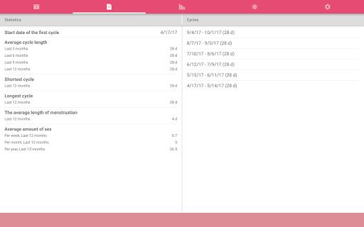 WomanLog Calendar  screenshots 10