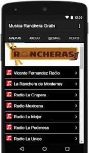 Musica Ranchera Gratis screenshot 0