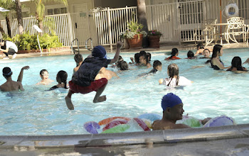 Photo: Hotel pool was full of kids who were there with a conference of Vietnamese Buddhists, ironically enough.