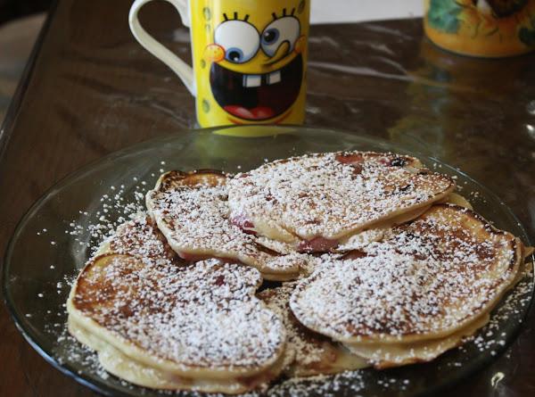 Pancakes With Fresh Cherries Recipe
