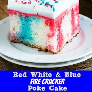 Red White & Blue Poke Cake Recipe