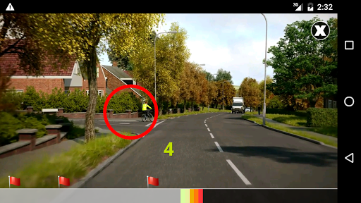 Hazard Perception Test CGI: DVSA Hazard Clips screenshot