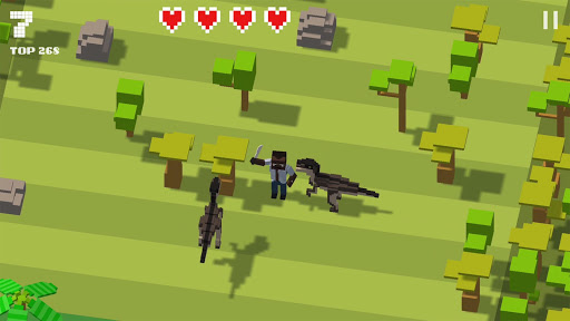 Jurassic Hopper: Crossy Dinosaur Shooter Game 1.2 de.gamequotes.net 3
