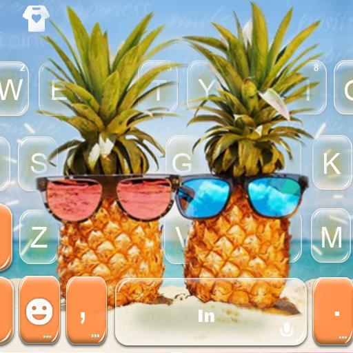 Sunglass Pinapple Keyboard Theme Icon
