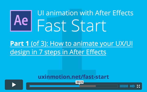 UI Animation with After Effects Fast Start