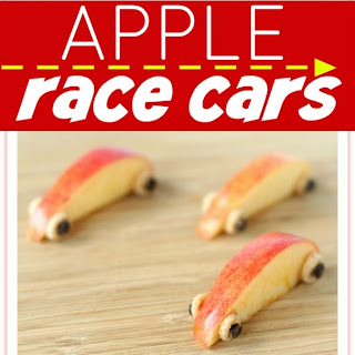 Apple Race Car Snack for Kids.