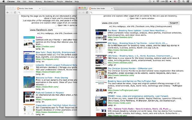 Similar Sites for Chrome