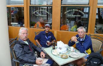 Photo: Jean-Paul, ikzelf en Serge voor vertrek
