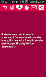 Happy Birthday SMS screenshot 2