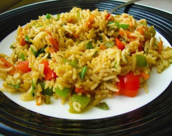 Grilled Bell Pepper Fried Rice Recipe