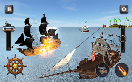 Caribbean Sea Outlaw Pirate Ship Battle 3D android2mod screenshots 6