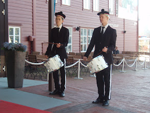 Photo: Drummers welcomed us back to our hotel. We wondered why?