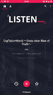 LISTEN.moe: j-pop and anime music radio - náhled