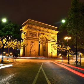 by Craig Payne - Buildings & Architecture Statues & Monuments ( paris, traffic, arc de triomphe )