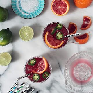 Blood Orange Jalapeno Margarita.