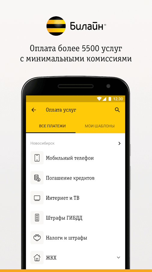 Карта Билайн- screenshot